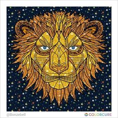 #lion #coloringbook #coloring #lionking #glitter #colorcure #healing #therapy#coloringappforadults
