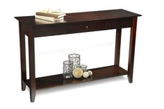 Black Friday 2014 Convenience Concepts American Heritage Console Table with Drawer and Shelf, Espresso from Convenience Concepts Cyber Monday Console Table, Wood Console Table, Decor, Decor Display, Table, Furniture Deals, Black Sofa Table, Furniture Sale, Sofa Tables