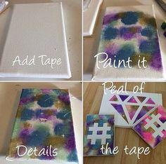 Cool DIY Paintings Diy PaintingTeenage Room Decor DiyRoom Ideas For Teen Girls DiyArt