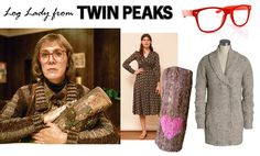 DIY Log Lady from Twin Peaks costume by Rock Mosaic