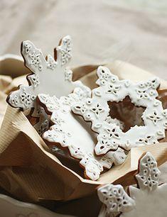 Gingerbread cookies #snowflake