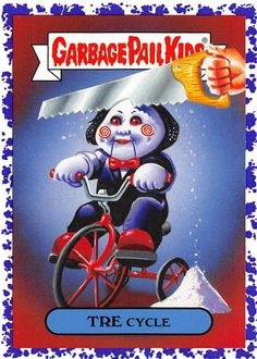 Garbage Pail Kids Revenge of Oh The Horror-ible Slasher Film Funny Horror, Horror Art, Horror Movies, Garbage Pail Kids Cards, Horror Posters, Collectible Cards, Kids Stickers, Halloween Horror, Revenge