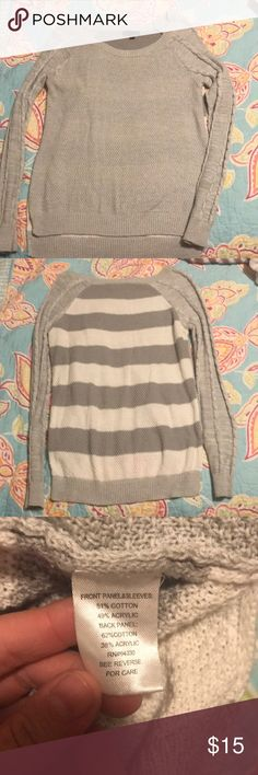 Gray sweater Soft gray sweater in good condition. T/O Sweaters Crew & Scoop Necks