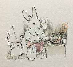 Bunny Mama Cooking Carrots #Dinner