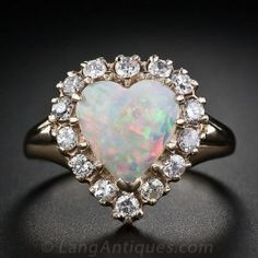 Opal Heart and Diamond Ring                                                                                                                                                                                 More