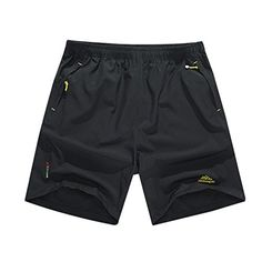 Rocky Sun Men's Summer Casual Short Pants Trousers Shorts Black Size L * You can find out more details at the link of the image.