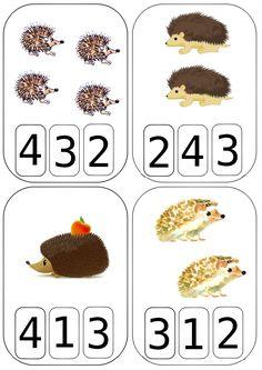 Compte avec le hérisson All About Me Preschool, Fall Preschool, Preschool Math, Montessori Activities, Kindergarten Activities, Autumn Activities, Activities For Kids, Kindergarten Calendar, Act Math