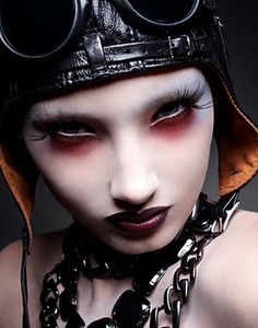 'The Dope Show' (Marilyn Manson inspired fashion editorial by Michael David Adams) gothic steampunk makeup eyes dark edgy