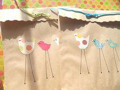 - Kraft Paper Gift Bags - birds
