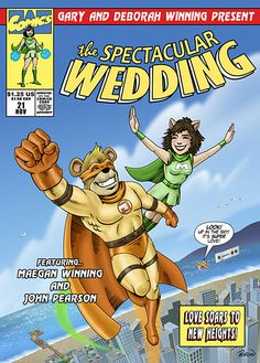A trend we can get behind: Comic-book wedding invites (click thru to see the insides)