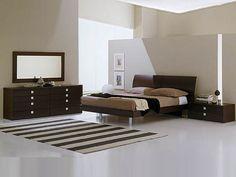 Modern & dark furniture.