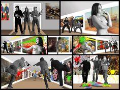 "PG. ""Muse"" ,Multimedia installation,Tretyakov Gallery, Moscow,2006"