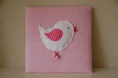 Bild Wandbild Vogel Baby- und Kinderzimmer rosa