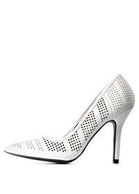 Perforated Pointed Toe Pumps