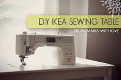 tutorial to take an ikea table and turn it into a sewing table where you machine bed is flush mounted with the rest of the table