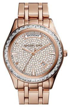 MICHAEL Michael Kors Michael Kors 'Kiley' Crystal Dial Bracelet Watch, 34mm available at #Nordstrom