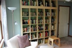 I have been yearning to have a library my entire life and when we bought our new house I knew that this Sitting Room off of our bedroom woul. Expedit Bookcase, Ikea Expedit, Modern Mantle, Ikea Design, Make A Choice, Reading Nook, Storage Spaces, Home Furniture, Shelving