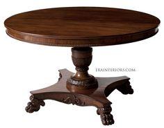 biedermeier center pedestal dining table Custom Dining Tables, Pedestal Dining Table, Painted Furniture, Home Decor, Decoration Home, Room Decor, Home Interior Design, Home Decoration, Interior Design