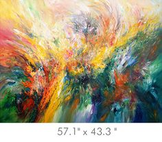 """Large ABSTRACT PAINTING 57.1 """" x 43.3 """" Original XL acrylic on canvas modern Art. unstretched ! Abstraktes Gemälde. Artist Peter Nottrott."""