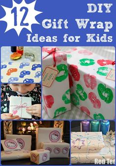 Turn your kids creativity towards gift wrap making.