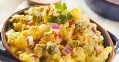 Recette de Salade de pommes de terre légère aux épices et au yaourt. Facile et rapide à réaliser, goûteuse et diététique.