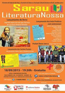 Agenda Cultural do ALTO TIETÊ: Dia 18/09 - Sarau Literatura Nossa - GRATUITO