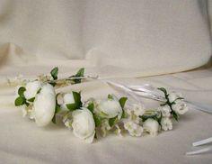 White Bridal Flower Crown Flower girl halo Wedding by AmoreBride