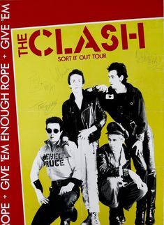 """The Clash – Fully Signed 1978 Concert Poster from UK """"Sort It Out"""" Tour"""