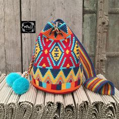 Mochila Crochet, Knit Crochet, Crochet Hats, Tapestry Crochet Patterns, Tapestry Bag, Diy Purse, Crochet Backpack, Crochet Purses, Knitted Bags