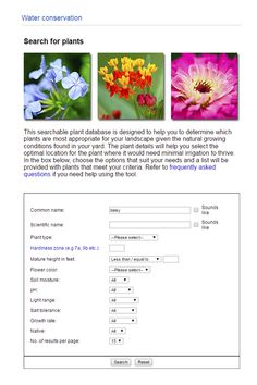 Enter information about your yard — soil conditions, sunlight needs, etc. — and find a list of plants suited to grow there