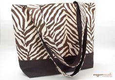 Brown Animal Print Tote Bag by sugarrushcreative on Etsy, $22.00