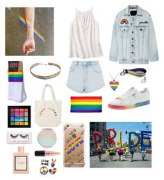 """""""girls love girls and boys and love is not a choice 🏳️🌈"""" by durtedenise ❤ liked on Polyvore featuring Alexander Wang, Topshop, Samsung, Everlane, NYX, Boohoo, Gucci and MAC Cosmetics"""