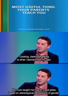 How to make jokes based on stereotypical perceptions of gender. Jon Richardson on 8 out of 10 Cats. British Humor, British Comedy, Jon Richardson, 8 Out Of 10 Cats, Stand Up Comedy, Good Jokes, Funny People, The Funny, Comedians