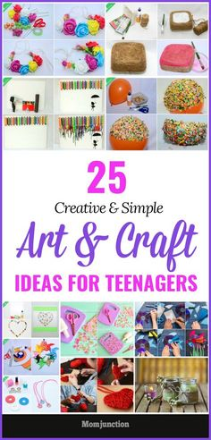 25 Creative And Simple Art And Craft Ideas For Teenagers is part of Creative crafts For Teens - Here are the superquick arts and crafts projects to help the teens beat the boredom Get all those colorful and creative art ideas and activities Summer Arts And Crafts, Arts And Crafts For Adults, Diy Crafts For Teens, Quick Crafts, Easy Arts And Crafts, Arts And Crafts House, Arts And Crafts Projects, Teen Crafts, Spring Crafts
