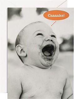 Caaaake Baby Birthday Card
