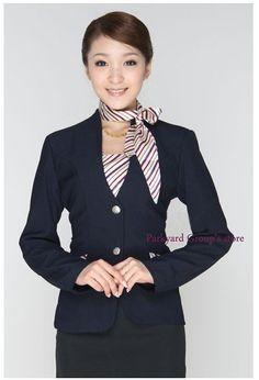 Ladies front desk hotel uniforms uniform scarves for Spa uniform france