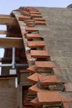Crossway Zero Carbon Home Brings Back the Timbrel Vault : TreeHugger Brick Architecture, Architecture Details, Casa Bunker, Passive House Design, Brick Works, Brick Construction, Casas Containers, Dome House, Brick Design