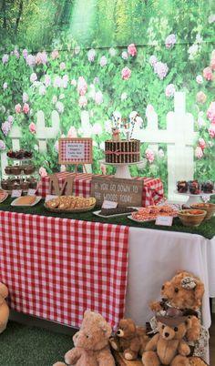 A teddy bear picnic birthday party - My Capital Plate Picnic Theme Birthday, Picnic Themed Parties, 1st Birthday Themes, 1st Boy Birthday, 1st Birthday Parties, Birthday Ideas, Backyard Birthday, Birthday Banners, 1st Birthdays
