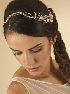 Beaded Flower hair Vine by Arianna Tiaras - Arianna Tiaras