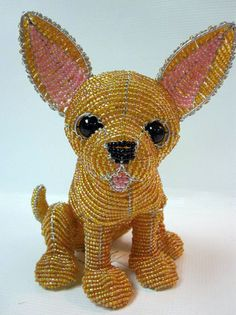 Delica bead and wire chihuahua!
