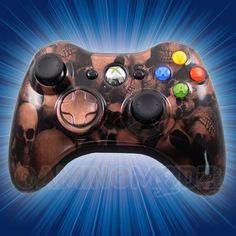 This is our Copper Skulls Modded Xbox 360 Controller. We have released our hydro dipped series of modded xbox 360 controllers and this model is one of the newest in that series. You can purchase this controller and many other custom Xbox 360 controllers exclusively at http://www.gamingmodz.com! Watch the video now: http://www.youtube.com/watch?v=G3TcP_2Dzhk=share