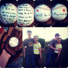 We like to play baseball together a lot so this is how he decided to do my promposal. I was so excited!
