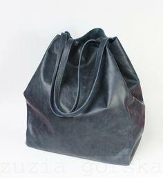 Nordic Shopping Bag 2in1 Vintage Navy Blue Zuzia Górska