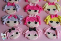 LaLaLoopsy inspired Fondant Cupcake toppers