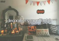 decorate my room for fall