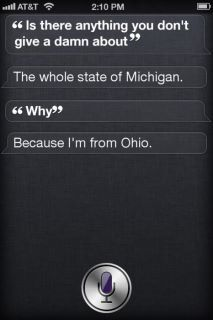 Siri knows what's up. Makes me excited for Buckeye football season:)
