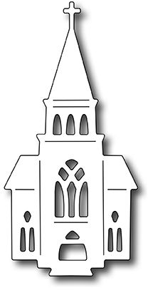 Frantic Stamper Precision Die - Village Church-The dies in our Village collection are designed to work together to form scenes for cards or scrapboo Wood Crafts, Diy And Crafts, Paper Crafts, Holiday Crafts, Christmas Crafts, Christmas Ornaments, Christmas Christmas, 3d Templates, House Template