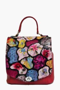 Geanta din piele naturala cu imprimeu floral multicolor 188-RM -  Ama Fashion Floral, Bags, Fashion, Handbags, Moda, Fashion Styles, Flowers, Fashion Illustrations, Flower