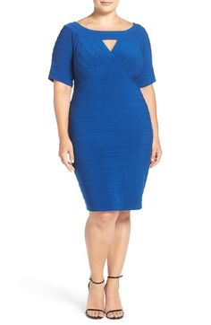 Adrianna Papell Banded Sheath Dress (Plus Size) available at #Nordstrom
