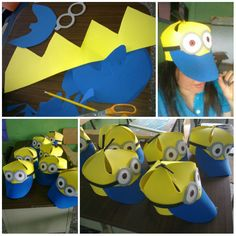 Funny Minions Hats for kids.